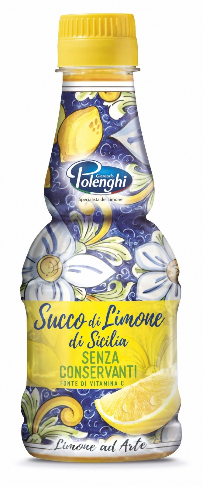 G.POLENGHI - THE FIRST AND UNIQUE PRESERVATIVE FREE LEMON JUICE IN RPET BOTTLE